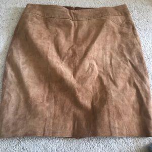 Tan suede vintage LeChateau skirt